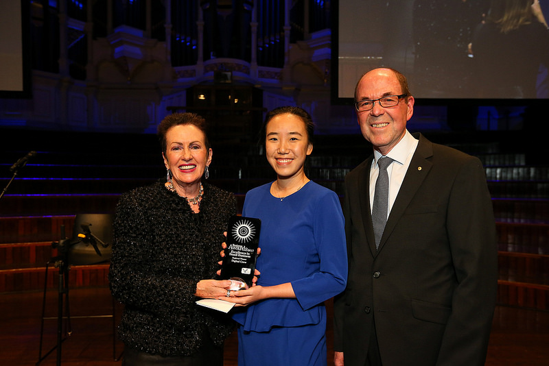 Lord Mayor Clover Moore, Ophenia Liang director of Digital Crew and Trevor Cairney (NSW Business Chamber)