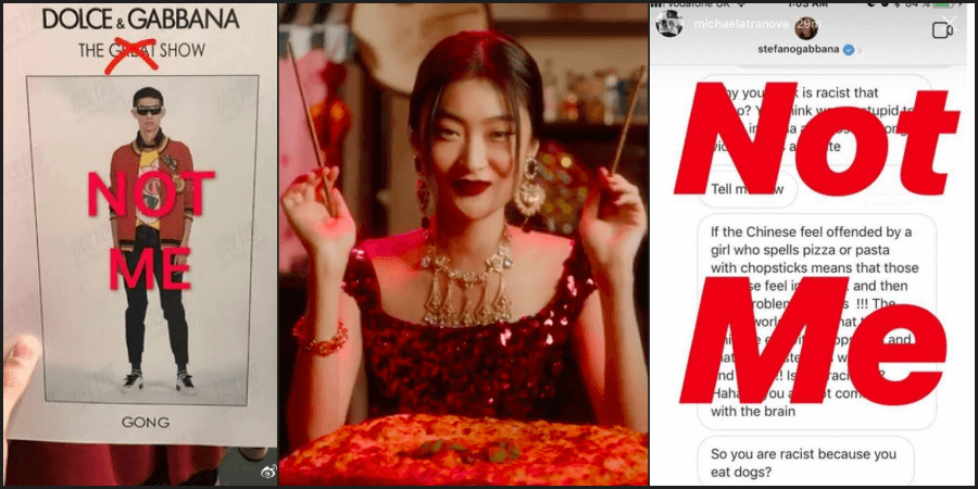 dolce & gabbana chinese racism